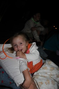 Savannah watching the fireworks